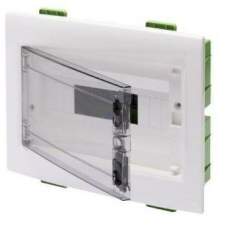 Tableau Électrique protÉgÉ mur vert porte transparente fumÉe' 12 modules ip40 gw40605pm