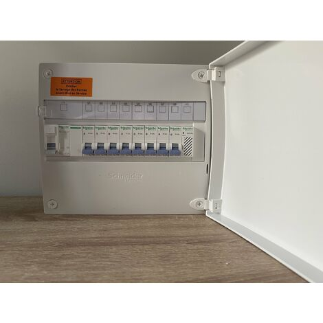 Tableau électrique Schneider 1 rangée 13M équipée et pré-câble ( porte offerte ! )