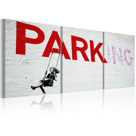 Tableau - Fille sur la balançoire (Banksy) 120x60
