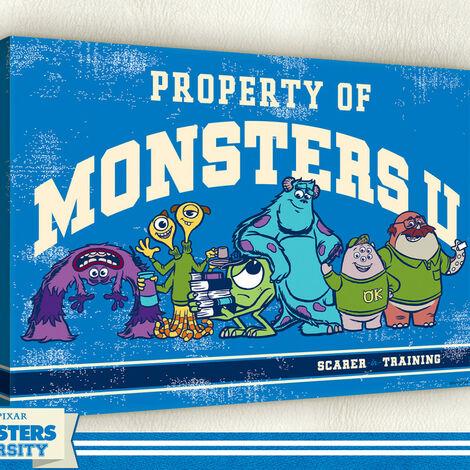 Tableau géant Monstres Academy Bleu Disney