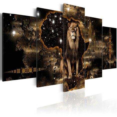 Tableau - Golden Lion (5 Parts) Wide 100x50
