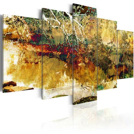 Tableau - jardin: abstraction 100x50
