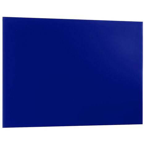 Tableau magnétique en verre 400 x 600 mm - avec marqueur et plots magnétiques - bleu
