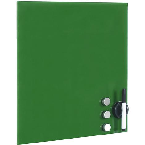 Tableau magnétique en verre Mémo board Vert Tableau aide ...