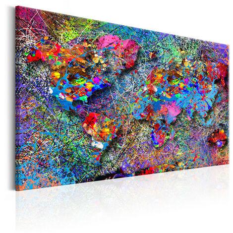 Tableau - Map: inspiration de Jackson Pollock 120x80