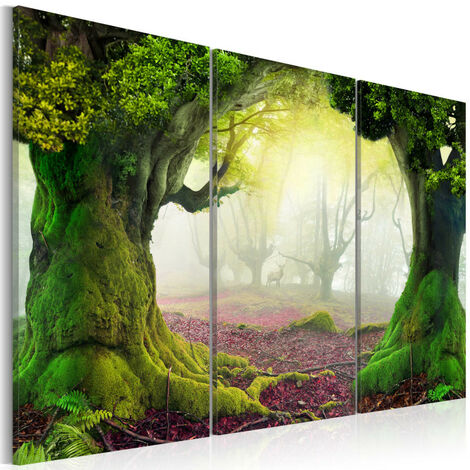 Tableau - Mysterious forest - triptych 120x80