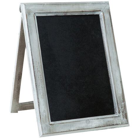 Tableau noir en bois avec chevalet, avec cadre autoportant pour bars, librairies, magasins, restaurants L32xPR3,5xH43 cm