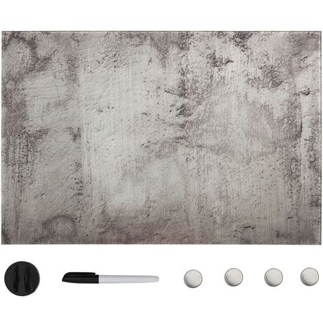 """main image of """"Tableau noir magnétique mural Verre 50x30 cm"""""""