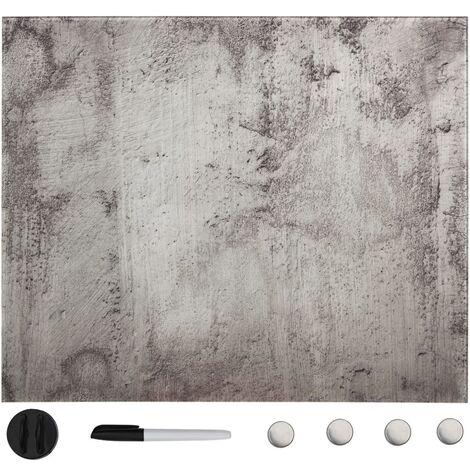 Tableau noir magnétique mural Verre 60x60 cm
