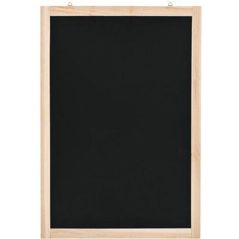 Tableau noir mural Bois de cèdre 40 x 60 cm