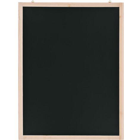 Tableau noir mural Bois de cèdre 60 x 80 cm