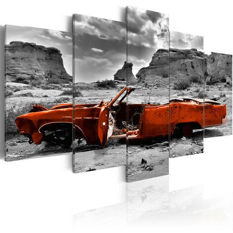 Tableau - Orange car 100x50