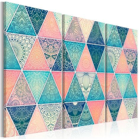 Tableau - Oriental Triangles (3 Parts) 90x60