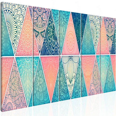 Tableau - Oriental Triangles (5 Parts) Narrow 200x80