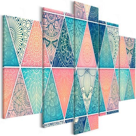 Tableau - Oriental Triangles (5 Parts) Wide 200x100