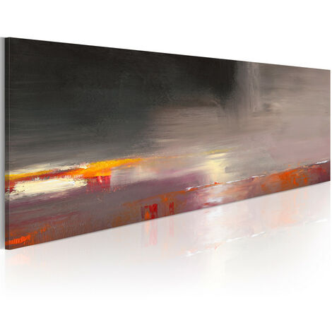 Tableau peint à la main - Mer cachée dans le brouillard 100x40