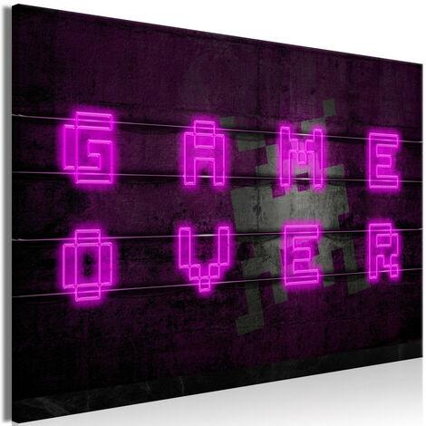 Tableau - Pink Neon (1 Part) Wide 120x80