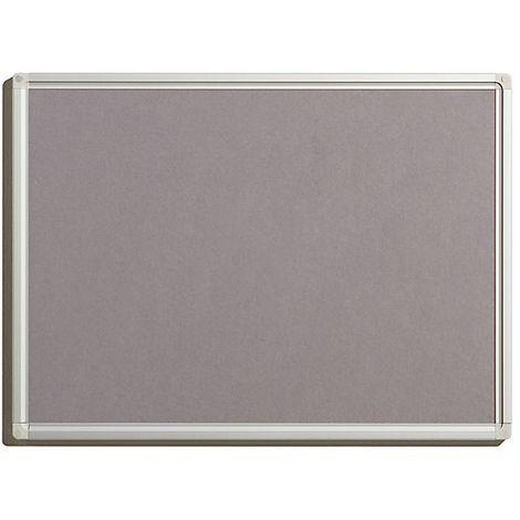 Tableau pour épingles - en feutre, coloris gris - largeur 600 mm, hauteur 450 mm - Coloris du tableau: Gris