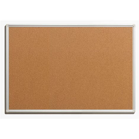 Tableau pour épingles - en liège naturel - largeur 900 mm, hauteur 600 mm - Coloris du tableau: nature