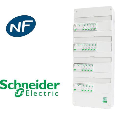 Tableau précâblé 18 disj + 4 ID Schneider Resi9 XE embrochable