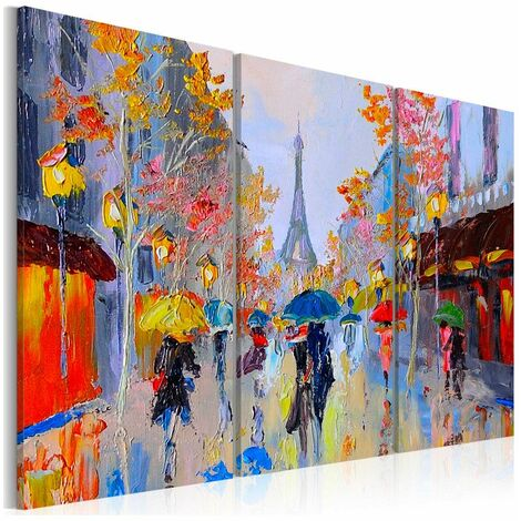 Tableau - Rainy Paris 120x80