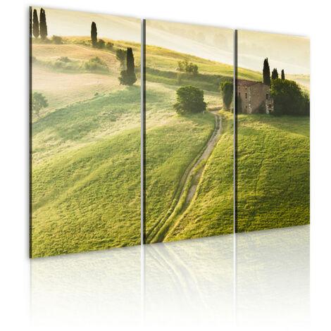 Tableau - Soleil au-dessus de la Toscane 120x80