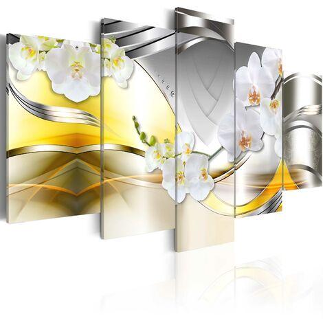 Tableau toile de décoration motif Flowers of future 200x100cm