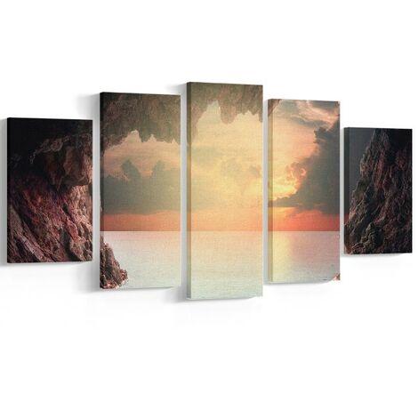 Tableau Wall - Nature et paysages - pour Salon, Chambre -Multicolore en Polyester, Bois, 20 x 3 x 40 cm