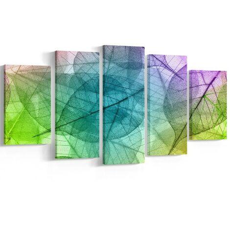 Tableau Wall - Nature - pour Salon, Chambre -Multicolore en Polyester, Bois, 20 x 2 x 30 cm