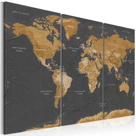 Tableau - World Map: Modern Aesthetics 120x80