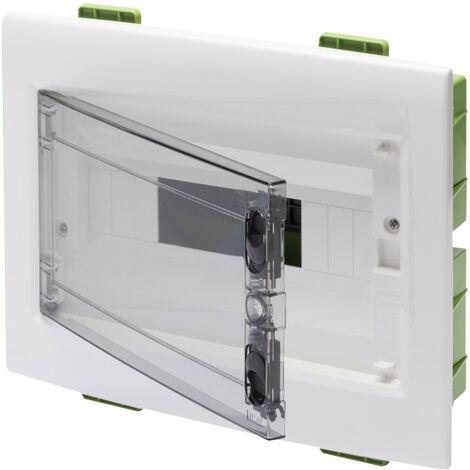 Tablero de conmutación de montaje empotrado Gewiss 12 módulos con puerto ahumado IP40 GW40605PM