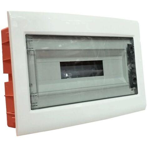 Tablero de conmutación de montaje empotrado Gewiss 18 módulos transparente, ahumado IP40 GW40608
