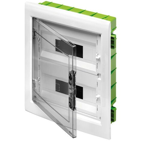 Tablero de conmutación de montaje empotrado Gewiss 24 módulos (12X2) con puerta de humo IP40 GW40606PM