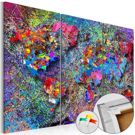 Tablero de corcho - Colourful Whirl [Cork Map]