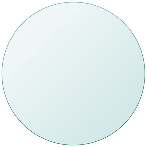 Tablero de mesa cristal templado redondo 600 mm - Transparente