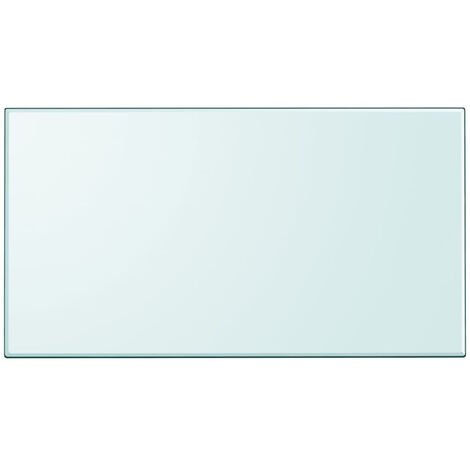 Tablero de mesa de cristal templado cuadrado 1200x650 mm