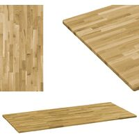 Tablero de mesa rectangular madera maciza roble 23 mm 100x60 cm