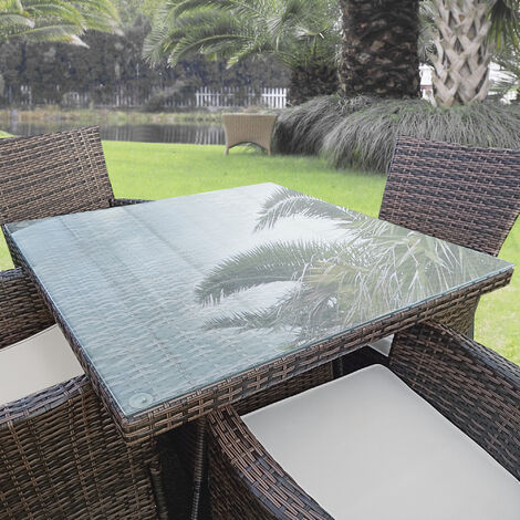 Tablero de vidrio para Mesa de centro - para Mesa de Comedor - Placa inferior para Chimenea - Vidrio Templado - 70 x 70 cm