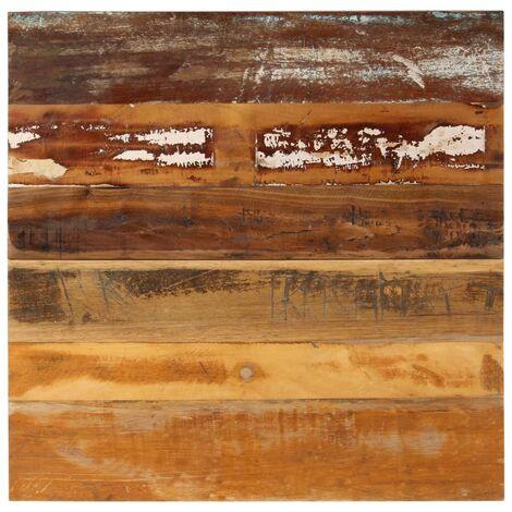 Tablero mesa cuadrada 70x70cm 15-16mm madera maciza reciclada - Multicolor
