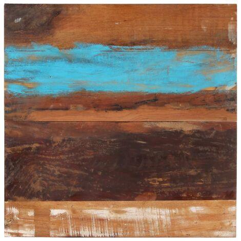 Tablero mesa cuadrada 80x80 cm 15-16 mm madera maciza reciclada - Multicolor