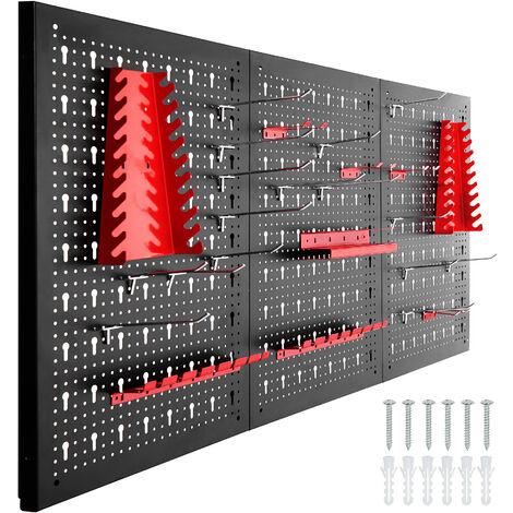 """main image of """"Tablero perforado para herramientas - negro/rojo"""""""