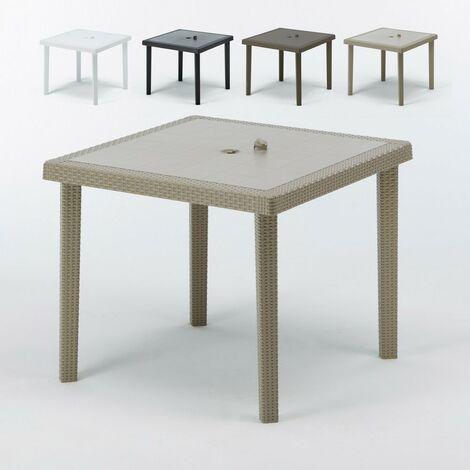 Tables bar en Poly rotin carrées 90x90 Grand Soleil BOHEME 12 pcs