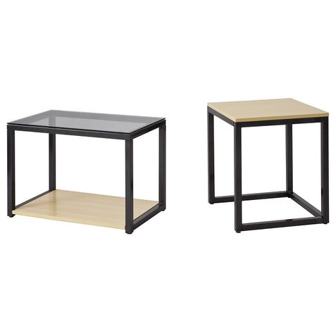 Tables Basses Gigognes - Set de 2 FBT35-Sch SoBuy®