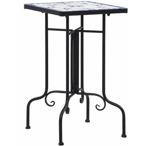 Tables d'appoint mosaïque Bleu et blanc Céramique