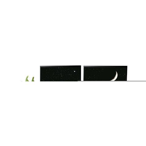 Tables d'ordinateur avec étagères en bois, Multifonction, 118 x 48 cm, Style industriel, Marron et Noir