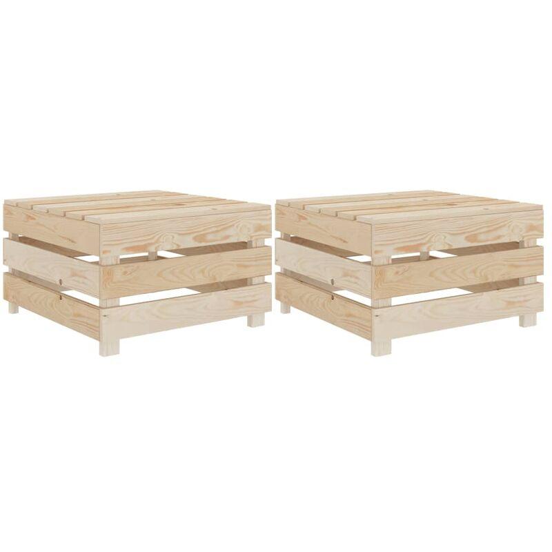 Vidaxl - Tables palette de jardin 2 pcs Bois