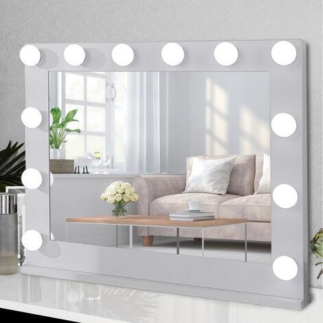 Tabletop LED Bulb Hollywood Dressing Makeup Mirror, 100CM