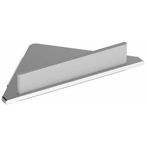 Tablette d'angle avec raclette intégrée - Aluminium - Argent anodisé et Blanc