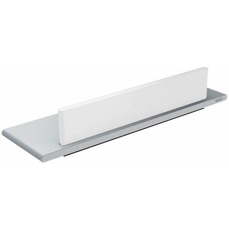 Tablette de douche avec raclette intégrée série EDITION 400 - Tablette finition : Chromé - Raclette finition : Blanc