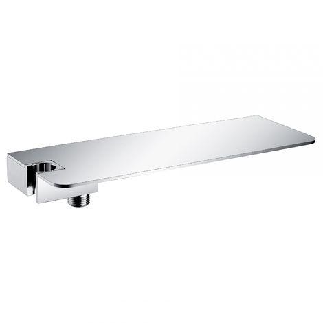 Tablette de rangement pour la douche DS40 avec coude mural et support pour la douchette - flexibles et douchettes en option